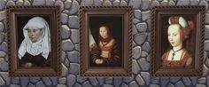 Medieval portraits at Mara45123 via Sims 4 Updates