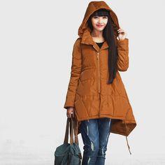 Loose casual medium-length duck down winter jacket by deboy2000