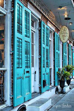 Turquoise Shutters Glistened Like, precious Stones, on Royal Street As, mesmerized Kings and queens Wandered The French Quarter, of New Orleans New Orleans Homes, New Orleans Louisiana, New Orleans Decor, New Orleans Architecture, New Orleans Mardi Gras, New Orleans French Quarter, New Orleans Travel, Up House, Aqua