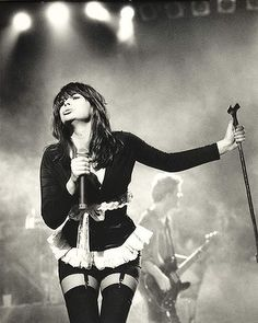 The late Chrissy Amphlett leads the Divinyls on the Love School tour in Melbourne.