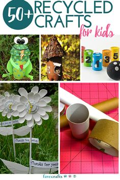 50+ Recycle Crafts for Kids - Check out our full collection of kids craft ideas that use recyclable materials. These ideas are perfect for Earth Day lesson plans and rainy day crafts. You probably have everything you need in your recycle bin.