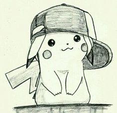 Cute pikachu drawings in pencil. Easy Pencil Drawings, Sad Drawings, Art Drawings Sketches Simple, Disney Drawings, Cartoon Drawings, Animal Drawings, Drawing Ideas, Tumblr Drawings Easy, Cartoon Cartoon