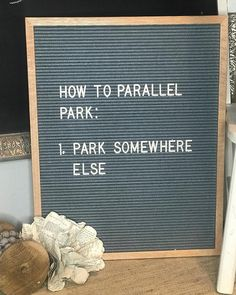 How to parallel park.