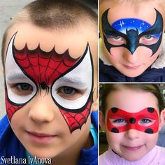 Let's go through the classics 😬 _____ 🎉 you can order face painting for the holiday by Svetlana. _____ ⁉️For training – in PM ____ 🛍 you can buy professional materials for face painting in the store Maskarad maskarad-grim. Face Painting Halloween Kids, Superhero Face Painting, Eye Face Painting, Face Painting For Boys, Face Art, Body Painting, Simple Face Painting, How To Face Paint, Batman Face Paint