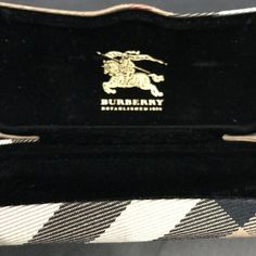 8834e8d982 Burberry Eyeglasses Case Only Brown Plaid With Cloth Hard Side  Burberry  Purse Styles