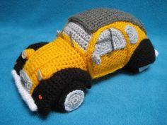 Amigurumi 2CV Inspired French Classic Car Crochet PATTERN PDF
