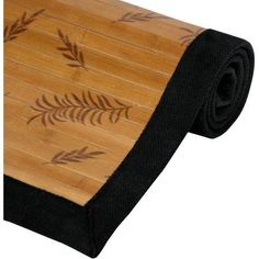 Bamboo Rug, Little Leaf, Beige