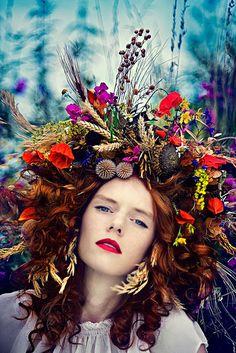 Floral Adornment| Serafini Amelia| ❀ Flower Maiden Fantasy ❀ women & flowers in art fashion photography - Simona Smrckova