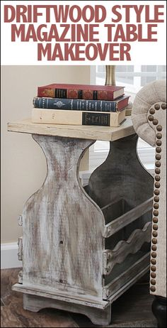 Use Annie Sloan chalk paint, waxes and some distressing to create a driftwood inspired piece!