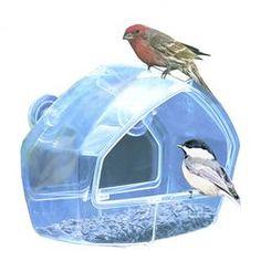 Songbird One Way Mirror Window Bird Feeder | Wayfair to entertain the indoor cats