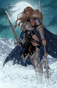 Valkyrie print by Zach Fischer Comics and Illustration--The Marvel Comics depiction of Brunnhilde, superhero name Valkyrie. Fantasy Warrior, Fantasy Girl, Chica Fantasy, Fantasy Women, Comic Book Characters, Marvel Characters, Comic Books Art, Fantasy Characters, Female Characters