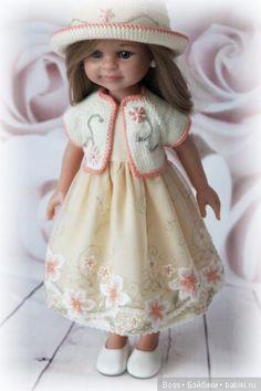Комплект одежды для Paola Reina: платье, болеро, шляпка / Одежда для кукол / Шопик. Продать купить куклу / Бэйбики. Куклы фото. Одежда для кукол