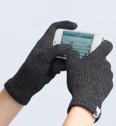 Thin gloves made of nylon-silver which allow you to use your touch screen devices. A must have for me and my bus commute.
