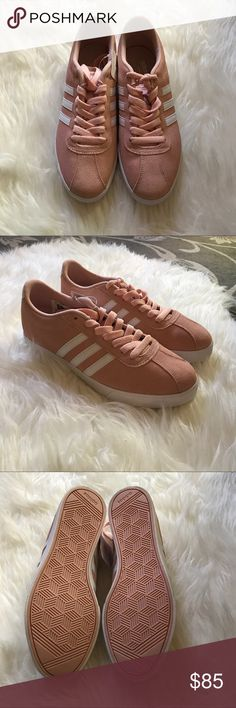New Adidas Blush Pink Suede Sneakers size 7.5 Brand new. Color of the season! Size 7.5. Comes with white laces too Adidas Shoes Sneakers