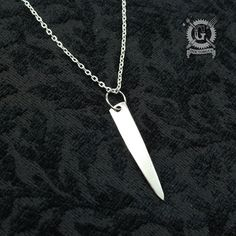 Here is an elegant pendant handmade from a genuine antique silver plated fork tine. Its graceful minimalist lines are sure to compliment any style. An instant classic, it works just as well whether you want a casual look or something more formal. It started life as part of a serving fork from the early part of the 1900s. Ive separated its tines, drilled and then polished them to create the wonderful piece of upcycled art you see here…