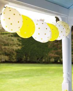 décoration ballons guirlande