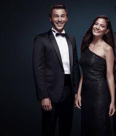 Yusef Cim and Demet Ozdemir Twin Star Exorcist, Strapless Dress Formal, Formal Dresses, Hottest Female Celebrities, Turkish Beauty, Happy Animals, Turkish Actors, Tatoos, All Star