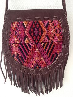 Karma bag Maya with the gypsy fringes!  Handmade from suede in Guatemala