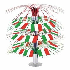 8c5f512997 Beistle 57367 Italian Flag Cascade Centerpiece - Pack of 6 - Gadgets   Gifts