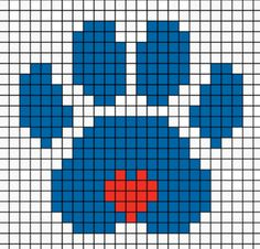 Crocheted Blankets, Cross Stitch Animals, Bead Crafts, Plastic Canvas, Cross Stitching, Pixel Art, Crochet Baby, Loom, Smurfs