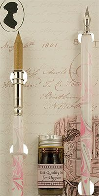 Ink: Jane Austen #pen, #pencil, and #ink set.
