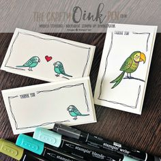 Bird Banter Quick and Easy Note Cards using Blends by Mikaela Titheridge, #6UK Independent Stampin' Up! Demonstrator, The Crafty oINK Pen. Supplies available through my online store 24/7
