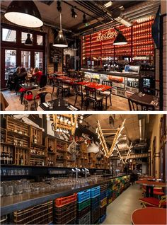 Spiler bistro pub, Budapest -- Fusing a concept of local Budapest ruin pubs, New York city bars and the high-end gastronomy, owner Roy Zsidai has opened 'Spíler', a public socializing place where people come to experience something completely new in Budapest in terms of food and atmosphere. The decor was collected from local furniture designers, the flea market, old warehouses, and apple producer farmers.