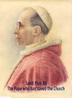 Check out my new PixTeller design! :: Saint pius xii the pope who has saved the church