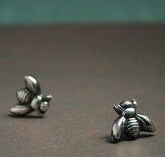 Items similar to Bzzz Bees - Handcrafted Fine Silver Earring Post Studs on Etsy Precious Metal Clay, Bees Knees, Flower Boxes, Other Accessories, Playing Dress Up, Silver Earrings, Studs, Jewlery, Addiction