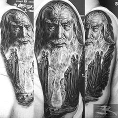 by @randyengelhard . #best #tattoo #tattooartist #tattoosupport #tattooworldpub #like4like #likeforfollow #follow4follow #followbackalways #follow4followback Gandalf Tattoo, Hobbit Tattoo, Tolkien Tattoo, Lotr Tattoo, Arm Tattoo, Sweet Tattoos, Cool Tattoos, Amazing Tattoos, Lord Of The Rings Tattoo