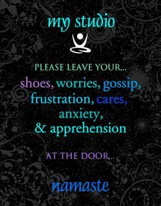 Yoga Studio Rules Contemporary Print CafeMount 11x14 by catalyst54, $39.95