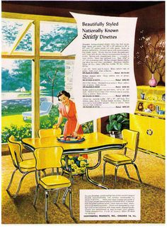 1951 Ad Kitchen Dinettes