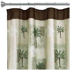 Bacova Citrus Palm Bath Shower Curtain EUR25 Liked On Polyvore Featuring Home