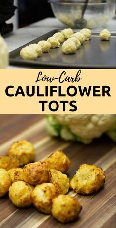 These Baked Cauliflower Tots are a perfect low-carb snack or side dish. These Baked Cauliflower Tots are a perfect low-carb snack or side dish. Veggie Dishes, Vegetable Recipes, Vegetarian Recipes, Vegetable Noodles, Vegetarian Dinners, Low Carb Recipes, Cooking Recipes, Healthy Recipes, Cooking Ham