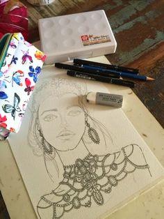 """""""Artes da Cris"""": Desenhando Inspirações Mauy"""