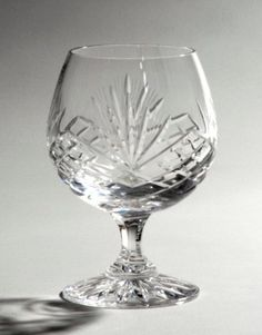 Heavy nachtmann 39 bamberg 39 cut lead crystal cognac glasses brandy snifters balloon glasses - Waterford cognac glasses ...