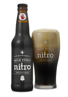Milk Stout Nitro - Left Hand Brewing - love the Nitro line of labels. Simple & clean for a dark & delicious beer.