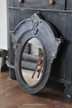 antique black mirror
