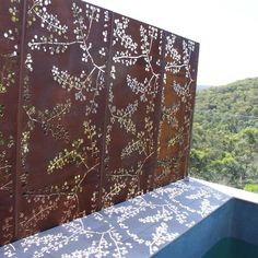 Wattle - Metal Laser Cut Screens - Outdoor Screens & Wall Features - Watergarden Warehouse by gabrielle Laser Cut Screens, Laser Cut Panels, Laser Cut Metal, Metal Panels, Fence Panels, Outdoor Screens, Outdoor Privacy, Window Screens, Garden Screening