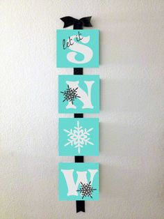 Letter Blocks Custom Hand painted Christmas Canvas Any Word Home Decor Gift