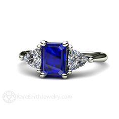 Blauer Saphir-Verlobungsring Jahrgang Blauer Saphir von RareEarth