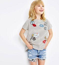 Camiseta parches-Ver Todo-CAMISETAS-NIÑA | 4-14 años-NIÑOS | ZARA España