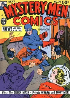 Mystery Men Comics #26, September 1941, cover by Chuck Cuidera.    O...M...G....WANT!