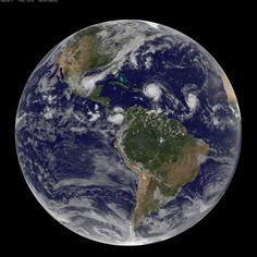 Earth, Irma and Jose