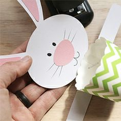 Make a quick and inexpensive Easter/Spring Door Hanger with this free printable that can be cut by hand or by machine.