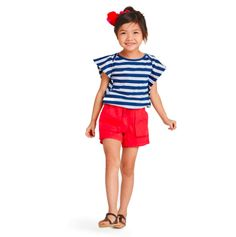 Seaport Stripe T Shirt and Shorts