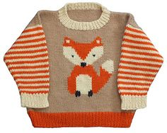 Fox Pullover pattern by Gail Pfeifle, Roo Designs