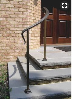 wrought iron handrails for outside steps   Railings, Gates, and ...
