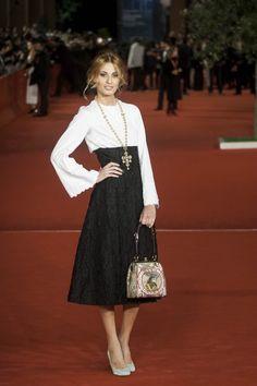 """Sveva Alviti wearing Dolce&Gabbana to the Premiere of """"Boccaccio '70' in Rome on November 9, 2013."""