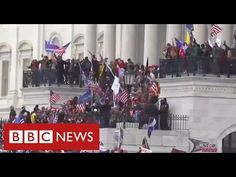 Chaos in Washington as Trump supporters storm Capitol and force lockdown of Congress - BBC News - YouTube